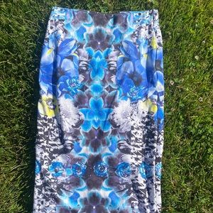 Topshop Stretchy Graphic Pencil Skirt